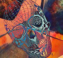 Blue dream skull by Louise Ebrey Hill