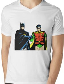 batman robin Mens V-Neck T-Shirt
