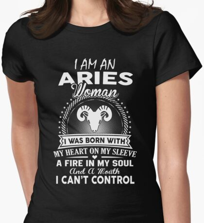 I Am An Aries Woman Womens Fitted T-Shirt
