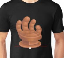 Glitch furniture armchair orange hand armchair Unisex T-Shirt