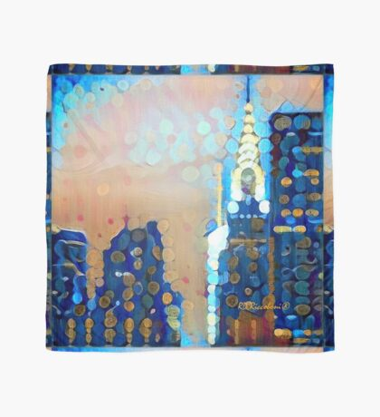 New York Symphony In Blue Scarf
