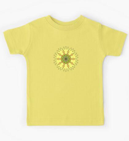 Citrus Sun Lion Fork Mandala Kids Tee