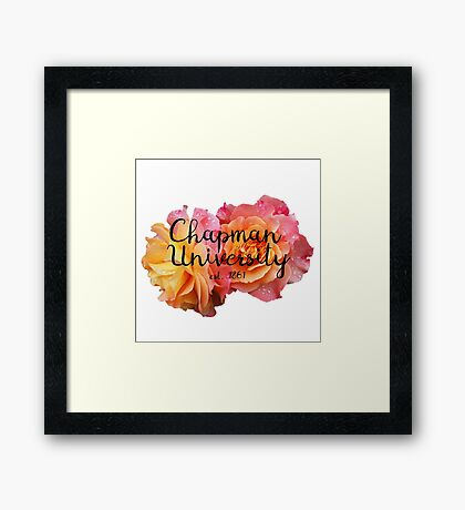 Chapman University Framed Print