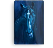 Horse - Apple indigo Metal Print