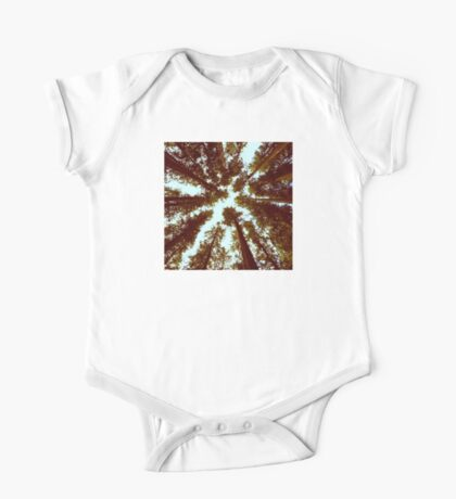 Forest Sky - Vintage Trees One Piece - Short Sleeve