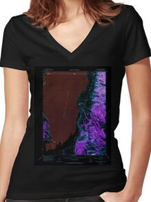 USGS TOPO Map California CA Willow Ranch 302002 1962 62500 geo Inverted Women's Fitted V-Neck T-Shirt
