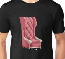 Glitch furniture armchair pink highback armchair Unisex T-Shirt