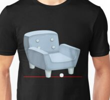 Glitch furniture armchair powdered blue armchair Unisex T-Shirt