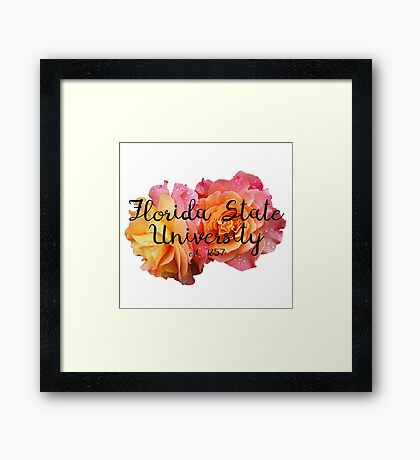 Florida State University FSU Roses Framed Print