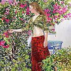 Francesca in Ute's Garden by Margaret Merry