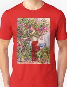 Francesca in Ute's Garden Unisex T-Shirt