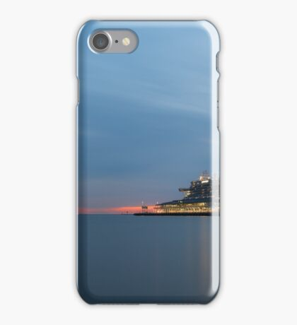 Ocean Liner at Port Melbourne, Evening iPhone Case/Skin