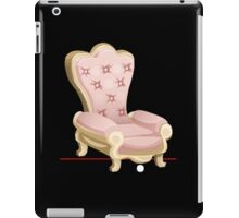 Glitch furniture armchair royal pink armchair iPad Case/Skin