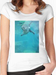 Penguin Underwater Women's Fitted Scoop T-Shirt
