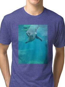 Penguin Underwater Tri-blend T-Shirt