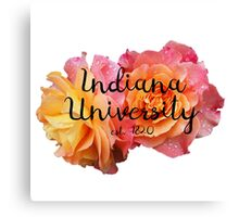 Indiana University Bloomington IU IUB Roses Canvas Print