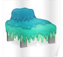Glitch furniture armchair slimy in blue armchair Poster