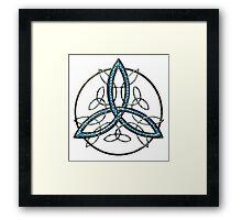 Bee Blue Celtic Triquetra Framed Print