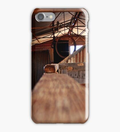 The old sheep shearing shed iPhone Case/Skin
