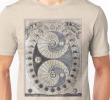 Ancient astronomy diagram charting Phases of the Moon  Unisex T-Shirt