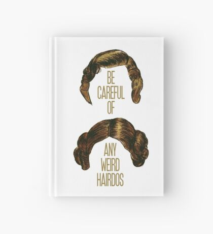Weird Hairdos - Carrie Fisher Memorial Journal Hardcover Journal