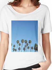 Palm Trees Sky Women's Relaxed Fit T-Shirt