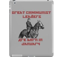 Great Communist Leaders Are Born In January Kim Jong-Un iPad Case/Skin