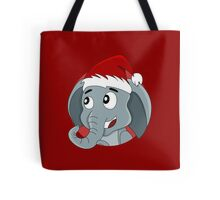 Cute Christmas elephant cartoon Tote Bag