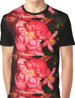 Red Begonia Flower #3 Graphic T-Shirt