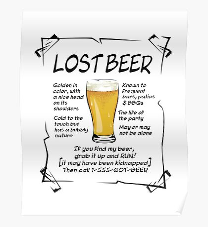 Lost Beer on Light Poster