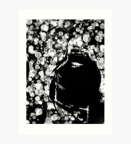 Girl Profile with Dots 2 Art Print