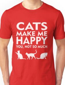 Cats Make Me Happy Unisex T-Shirt