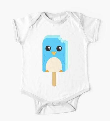 Cute Penguin Popsicle  One Piece - Short Sleeve