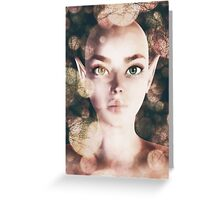 Fairy portrait with bokeh Greeting Card