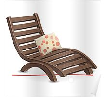 Glitch furniture armchair wooden armchair with dot cushions Poster