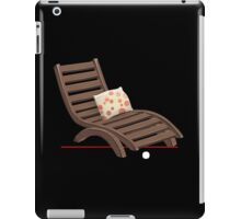 Glitch furniture armchair wooden armchair with dot cushions iPad Case/Skin