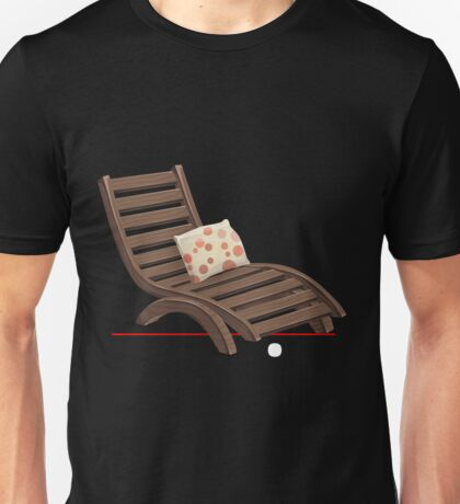 Glitch furniture armchair wooden armchair with dot cushions Unisex T-Shirt