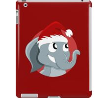 Cute Christmas elephant cartoon iPad Case/Skin