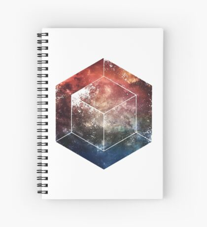 White Space Cube Spiral Notebook