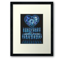 Crystal Heart, Crystal Memories Framed Print