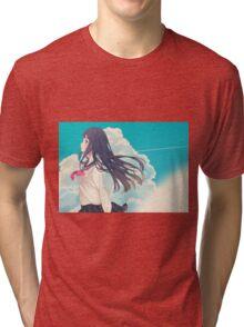 anime girl  Tri-blend T-Shirt
