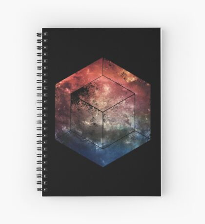 Black Space Cube Spiral Notebook