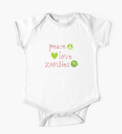 Peace Love and Zombies One Piece - Short Sleeve