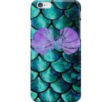 Mermaid Scales & Shell Bra iPhone Case/Skin