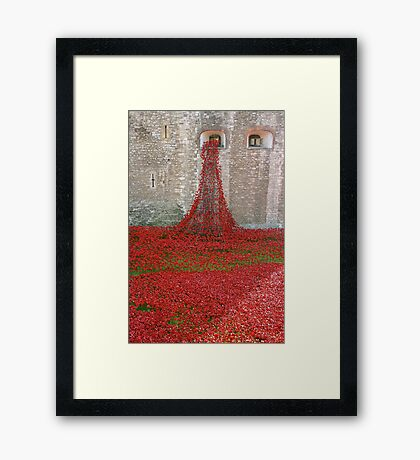 The Tower of London Remembers WWI Framed Print