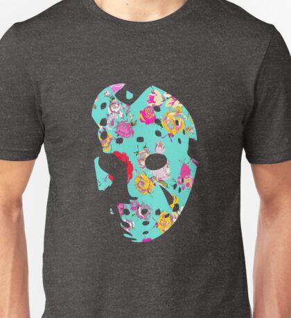 Floral Jason Hockey Mask Unisex T-Shirt