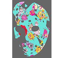 Floral Jason Hockey Mask Photographic Print