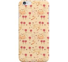 Orange Cat Pattern iPhone Case/Skin