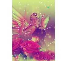 Fairy with Roses 3 Photographic Print