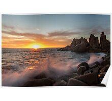 Splash, sunset at Pinnacles Poster